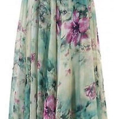 Dámská květinová maxi sukně - velikost 5