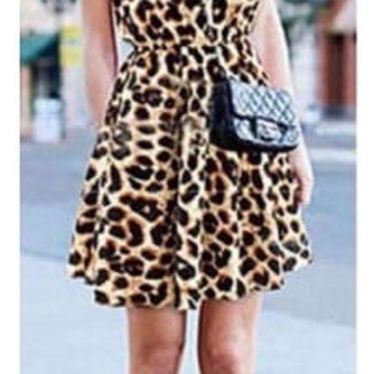 Šifonové mini šatičky s leopardím vzorem - velikost č. 2