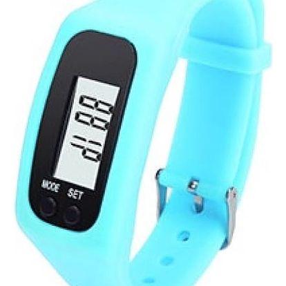 Silikonové hodinky s krokoměrem - modrá