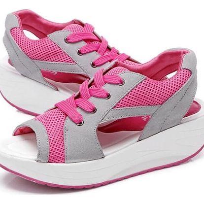 Dámské sandály na cestování - růžové ve velikosti 40