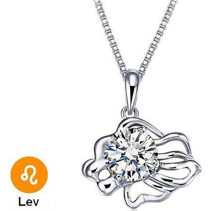 Elegantní náhrdelník s přívěsky ve tvaru znamení zvěrokruhu - Lev