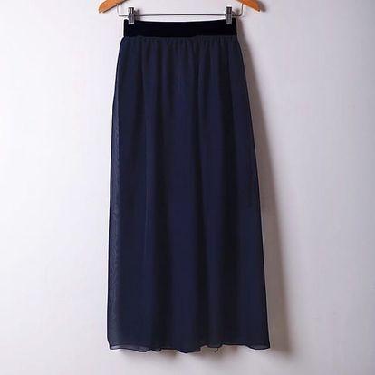 Dámská maxi sukně - tmavě modrá