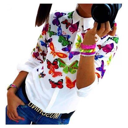 Dámská košile s motýlky - Velikost 3