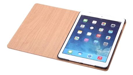 Lehký plastový obal s dřevěnou texturou na iPad Air 2 - Světle hnědá