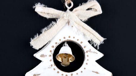 Dekorace Stromeček se zvonečkem na zavěšení