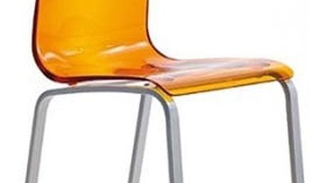 Gel-r - jídelní židle (oranžová)