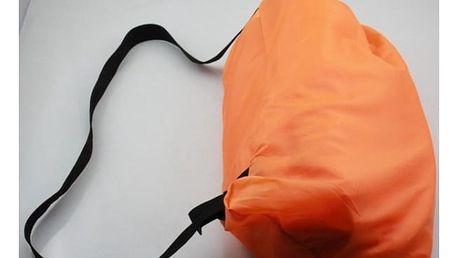 Nafukovací lehátko - lazy bag - Oranžová