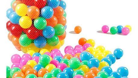 Sada 10 ks barevných plastových míčků
