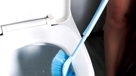 Oboustranný kartáč na mytí záchodové mísy