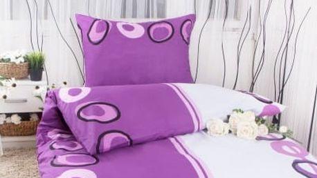XPOSE ® Prodloužené povlečení MAGDALENA - fialová 140x220, 70x90