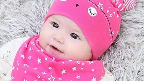 Čepička a šátek pro miminko - různé varianty
