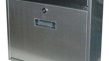 Poštovní nerezová schránka Radim V stříbrná, 36 cm