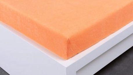 XPOSE ® Froté prostěradlo Exclusive dvoulůžko - meruňková 200x220 cm