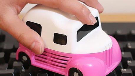 Mini vysavač na čištění klávesnice v podobě auta