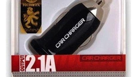 USB nabíječka do 12V REMAX CL Charger Adapter, výkon 2.1A, USB, černý (black) AA-053