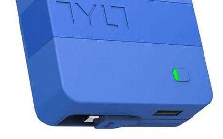 Externí napájecí zdroj TYLT Cestovní nabíječka a powerbanka 2v1, USB výstup a kabel micro USB), černá/modrá MICNRG6TCBL-EUK