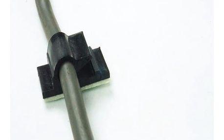 Samolepicí upínací klip na kabely - 2 barvy