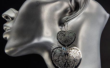 Fashion Icon Náušnice srdce velké a malé