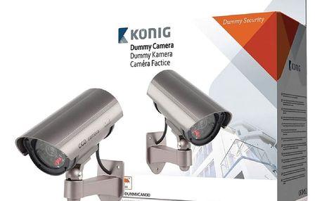 Zabezpečení domácnosti König Atrapa venkovní kamery s infračervenou LED SAS-DUMMYCAM30