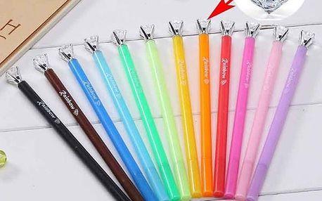 Gelové školní pero v různých barvách