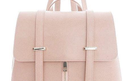 Růžový kožený batoh Sofia Cardoni Tefe - doprava zdarma!