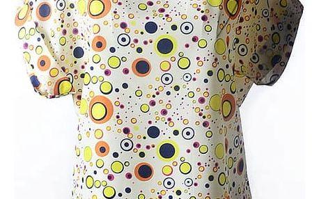 Volné šifonové tričko s veselým vzorem - velikost č. 5 - 1