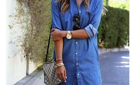Džínové šaty ve stylu košile - velikost 2 - dodání do 2 dnů
