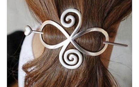 Kovová spona do vlasů ve třech barvách