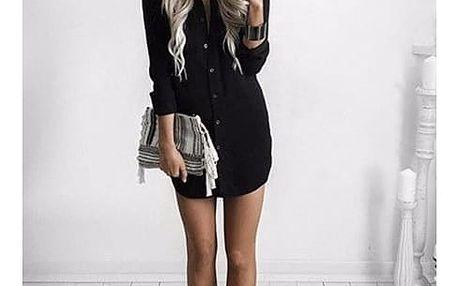 Košilové šaty - černá, velikost 2