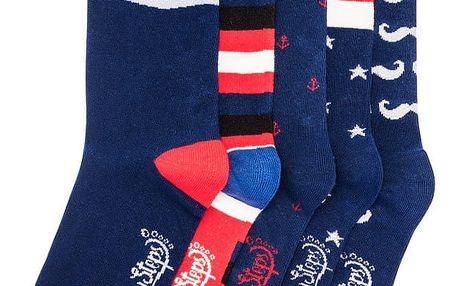 Sada 5 párů ponožek Funky Steps Malina, unisex velikost