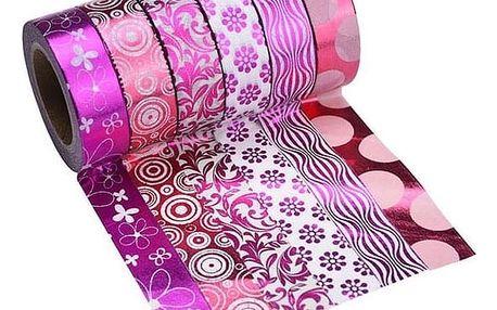 Sada lepicích pásek v růžových barvách