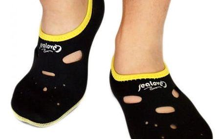 Ochranné ponožky do vody - černá, velikost M