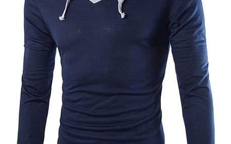 Pánské triko s dlouhým rukávem - modrá, velikost 4