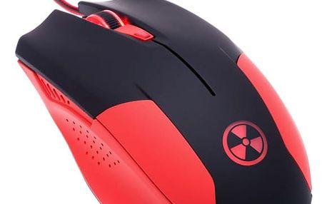 Myš Connect IT Battle V2 (CI-456) červená / optická / 6 tlačítek / 2000dpi