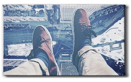 GLIX Pohled z mrakodrapu - obraz na plátně 60 x 30 cm