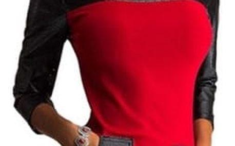 Extravagantní šaty s kapsami - Červená - 2