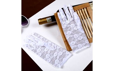 Elegantní krajkové rukavičky - více barev