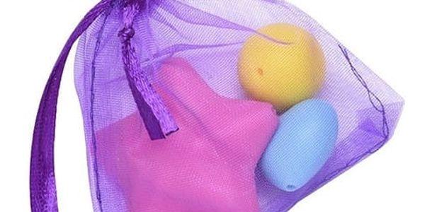 100 kusů sáčků z organzy - fialová barva