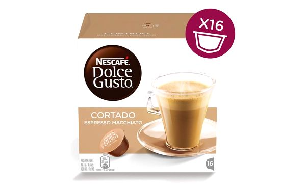 Kávové kapsle NESCAFÉ DOLCE GUSTO Cortado 16 ks