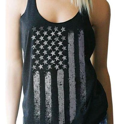 Dámské tílko s motivem americké vlajky