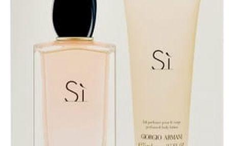 Giorgio Armani Si dárková kazeta pro ženy parfémovaná voda 100 ml + tělové mléko 75 ml