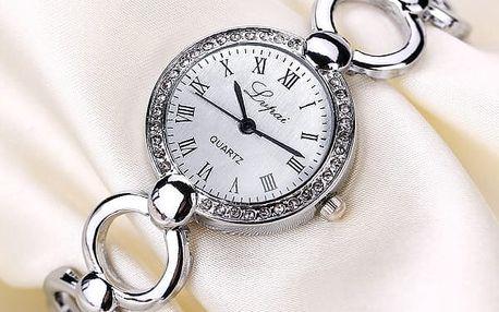 Elegantní hodinky se zajímavým páskem - 2 barvy