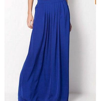 Maxi skládaná sukně - 7 barev