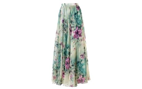 Dámská květinová maxi sukně - velikost 3