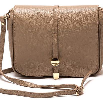 Kožená kabelka Ariela, šedohnědá - doprava zdarma!