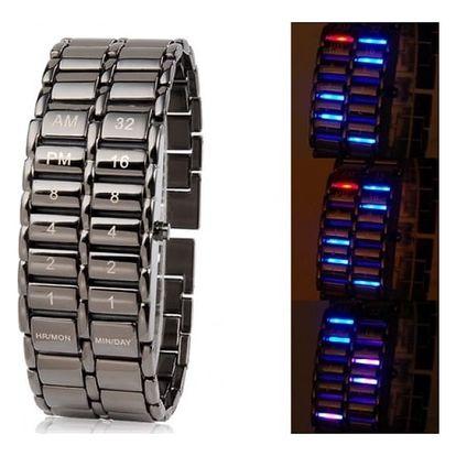 Pánské LED hodinky z chirurgické oceli
