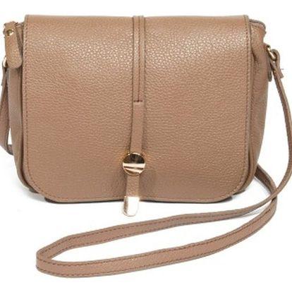 Béžová kožená kabelka Renata Corsi Ariela - doprava zdarma!