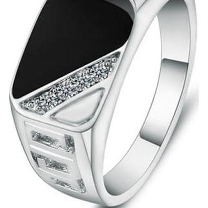 Módní unisex prsten s kamínky