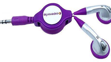 Teleskopická sluchátka - fialová