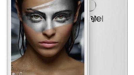 Mobilní telefon ALCATEL SHINE LITE 5080X - full white (5080X-2DALE17) stříbrný